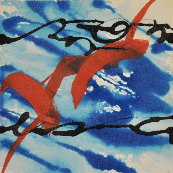 "FLUID SONG, Acrylic on Illustration board10 x 10""$450.00 Cdn"