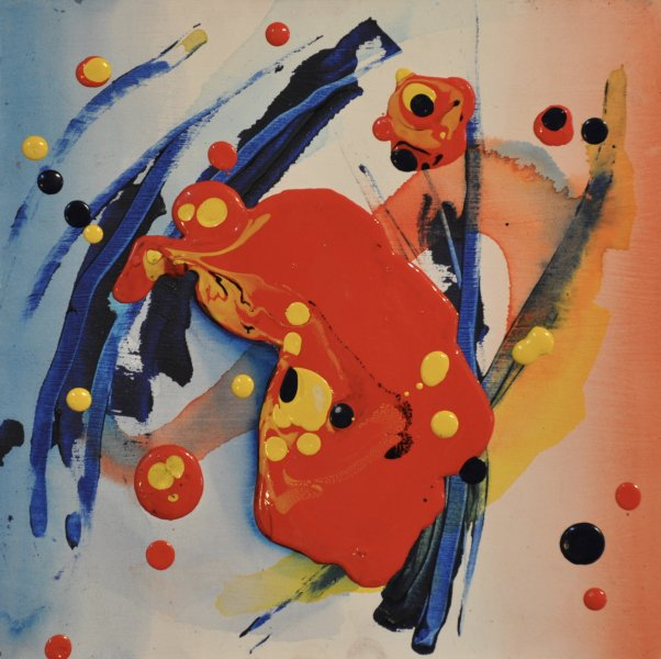 "PRIMARY URGE, Acrylic on Illustration board10"" x 10""$450.00"