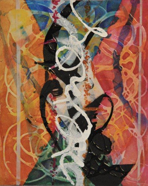 "HOT CONVERSATION, Acrylic on Illustration board10""h x 12""w$550.00"