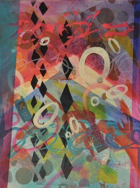 "ALL THE FUN, Acrylic on Illustration board16""h x 12""w$550.00 Cdn"