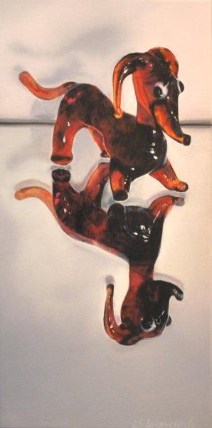 DOXIE, oil & alkyd on canvas, $1400.00Cdn