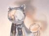 CLEAR KITTY, oil & alkyd on canvas, $1400.00Cdn