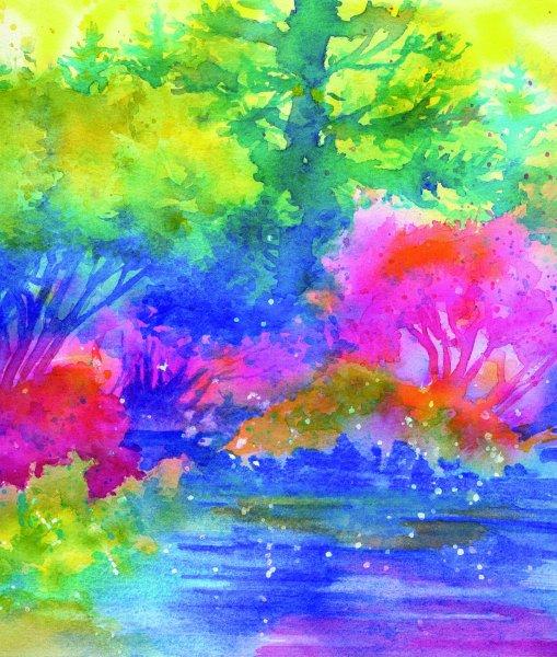 FANTASYSCAPE, watercolour on watercolour paper