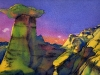 HOODOOS, watercolour on 140lb. CP, 10 1/2 IN. H X 14 IN. W