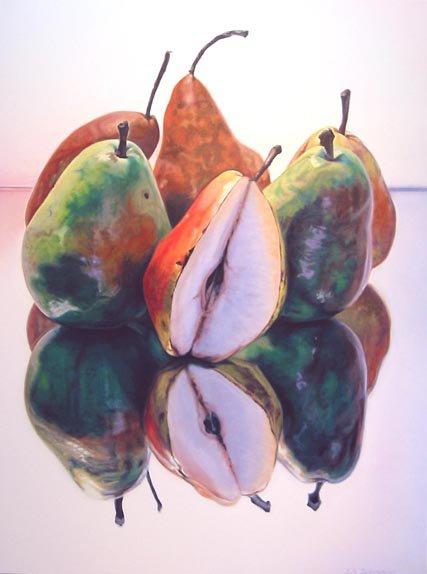 "Three Varieties 72, 48""h x 36""w, oil & alkyd on canvas,  $5000.00Cdn"