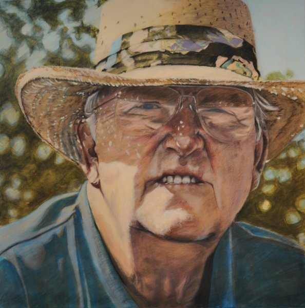 BIG B, acrylic and charcoal on canvas, 48 in. x 48 in., $6200.00Cdn