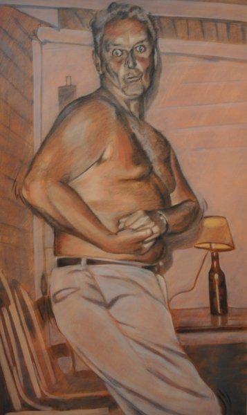 BILL'S BOOGIE, acrylic & charcoal on canvas, 60 in. H x 36 in. W, $5720.00Cdn