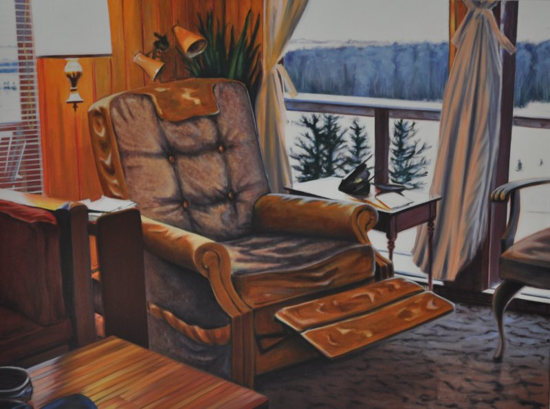 THE THRONE, oil & alkyd on canvas, 30 in. H x 40 in. W, $3300.00Cdn