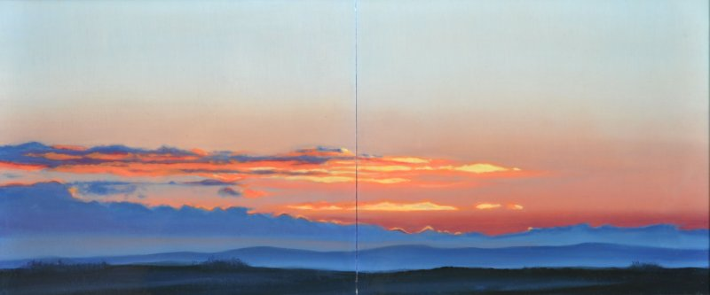 05/01/07 8:29:50am,diptych, oil & resin on panel, 12 in. H x 28 in. W, $1300.00Cdn