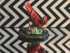 "Red Bird, 16 x 16\"", oil and alkyd on canvas, $1200.00Cdn"