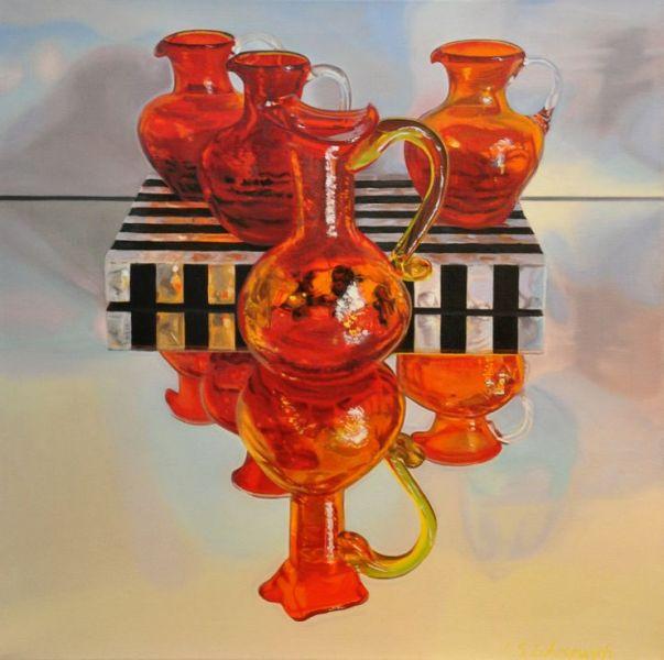 lori_lukasewich_Red&Orange_Glass2, $1600.00Cdn