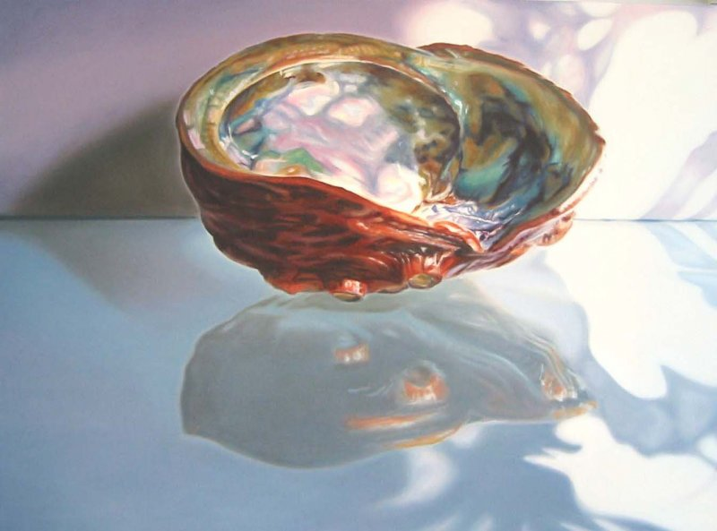 ABALONE, oil & alkyd on canvas, 30 in. H x 40 in. W, SOLD