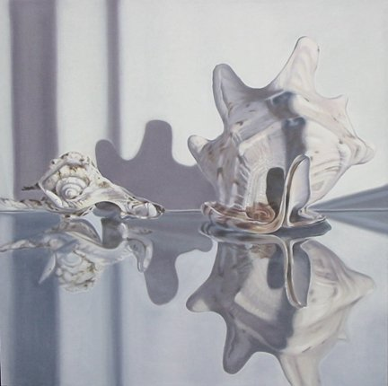 CONCH SHELLS, oil & alkyd on canvas, 30 in. x 30 in., SOLD