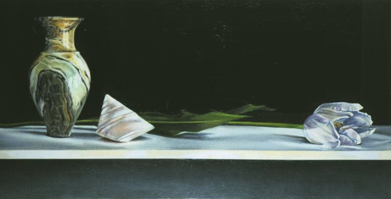 POLISHED SHELL, oil & alkyd on canvas, 20 in. H x 40 in. W, $3300.00Cdn