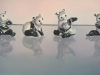 HER PANDA'S, oil & alkyd on canvas, 24 in. H x 48 in. W,$3300.00