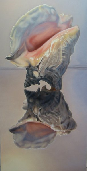 COLOSSE, oil & alkyd on canvas, 48 in. H x 24 in. W, $3300.00Cdn