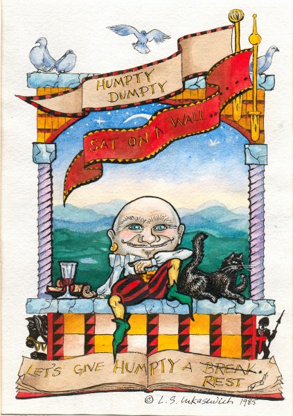 HUMPTY DUMPTY, watercolour illustration