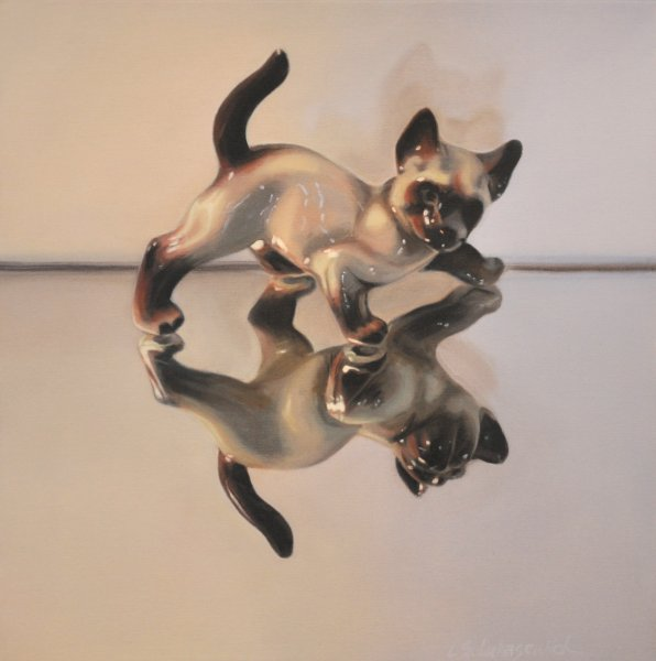 GOOD KITTY, oil & alkyd on canvas, $1500.00Cdn