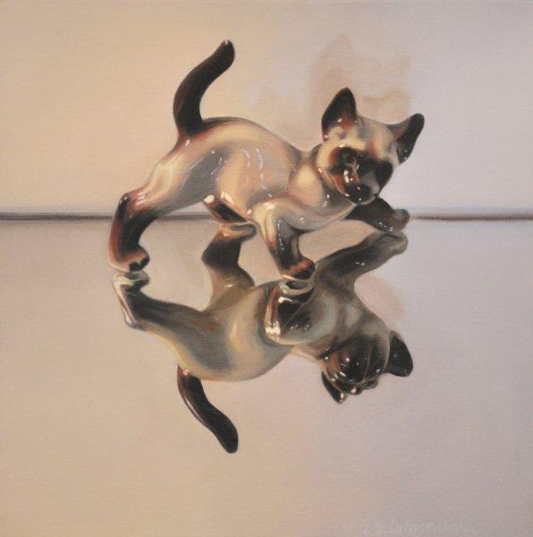 GOOD KITTY, oil & alkyd on canvas, $1500.00Cdn