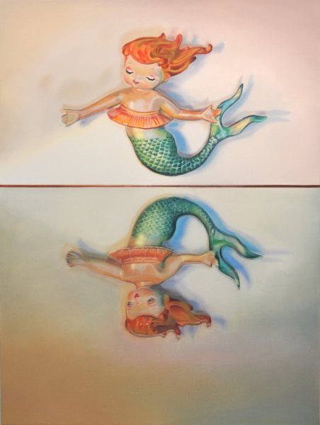 LITTLE MERMAID, oil & alkyd on canvas, $3300.00Cdn