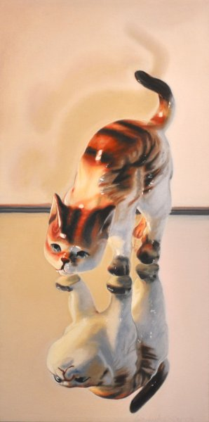 SCAREDY CAT, oil & alkyd on canvas, SOLD
