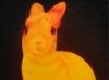 INNER LIGHT, NGHT BUNNY, oil & alkyd on canvas, $1500.00Cdn