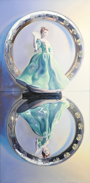 "DANCER, 48""h x 24""w, oil & alkyd on canvas, framed, $3200.00Cdn"