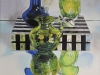 "ZOYA'S BLUE & GREEN GLASS, 30""h x 24""w, oil & alkyd on canvas, framed, $2200.00Cdn"