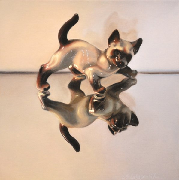 "Good Kitty 72, 24 x 24"", oil & alkyd on canvas,  $1500.00Cdn"