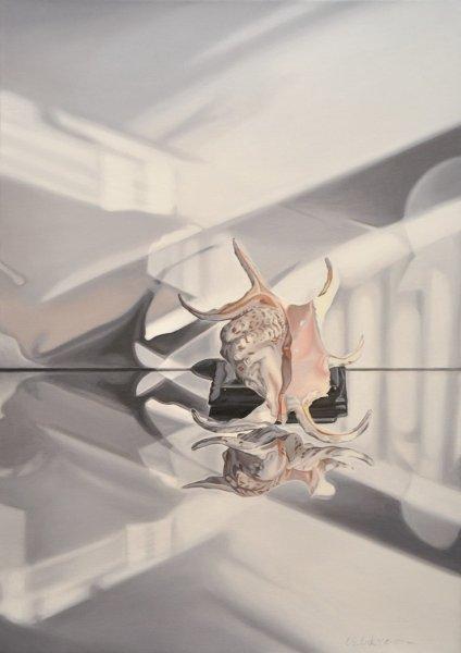"""Shell/Ceramic, 28""""h x 20""""w, Oil & Alkyd on Canvas, $2050.00Cdn"""