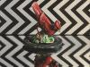 "Red Bird Figurine, oil and alkyd on canvas, 16 x 16"", $1200.00Cdn"