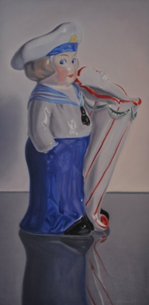 DUTCH BOY, oil & alkyd on canvas, 48 in. H x 24 in. W, $3300.00Cdn