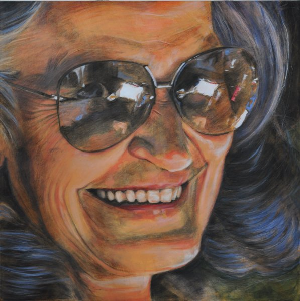 GRAMMA MARG, acrylic and charcoal on canvas, 48 in. x 48 in., $6200.00Cdn
