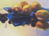 LEMONS & CHERRIES, oil & alkyd on canvas, 12 in. H x 24 in. W, SOLD