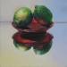 TWO LIMES, oil & alkyd on canvas, 12 in. x 12 in., $1250.00Cdn