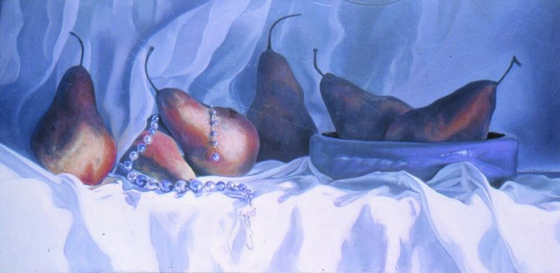 LES BOSC, oil & alkyd on canvas, 20 in. H x 40 in. W, SOLD