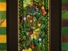 LEAF DEVA, watercolour construction & acrylic on poplar, 38 in. H x 18 in. W, SOLD