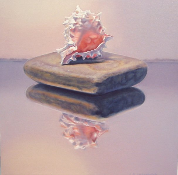CELESTE, oil & alkyd on canvas, 20 in. x 20 in., Sold