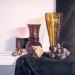 GOLDEN VASE, oil & alkyd on canvas, 28 in. x 28 in., $2000.00Cdn