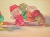 TABLEAUX, oil & alkyd on canvas, 20 in. H x 40 in. W, $2300.00Cdn